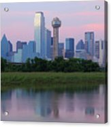 Trinity River With Skyline, Dallas Acrylic Print by Michael Fitzgerald Fine Art Photography of Texas