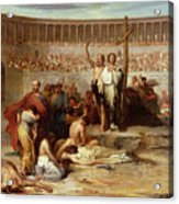 Triumph Of Faith    Christian Martyrs In The Time Of Nero Acrylic Print by Eugene Romain Thirion