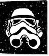 Trooper On Starry Sky Acrylic Print by Jera Sky