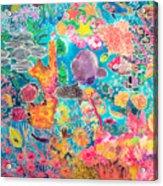 Tropical Coral Acrylic Print by Hilary Simon