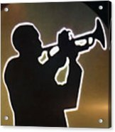 Trumpet - Classic Jazz Music All Night Long Acrylic Print by Christine Till