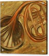 Trumpet Acrylic Print by Rashmi Rao
