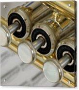 Trumpet Valves Acrylic Print by Frank Tschakert