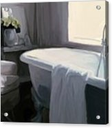 Tub In Grey Acrylic Print by Patti Siehien
