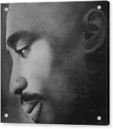Tupac Rose Acrylic Print by Adrian Pickett