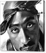 Tupac Shakur Acrylic Print by Ylli Haruni