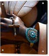 Turquoise Bracelet  Acrylic Print by Susanne Van Hulst