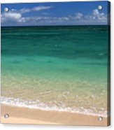 Turquoise Water Of Kanaha Beach Maui Hawaii Acrylic Print by Pierre Leclerc Photography