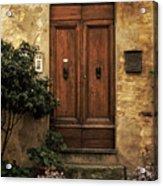 Tuscan Entrance Acrylic Print by Andrew Soundarajan