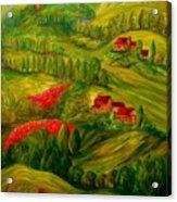 Tuscany At Dawn Acrylic Print by Eloise Schneider
