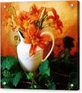 Tuscany Bouquet Acrylic Print by Marsha Heiken