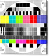 Tv Multicolor Signal Test Pattern Acrylic Print by Aloysius Patrimonio