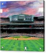 Twilight At Fenway Park Acrylic Print by Jack Skinner