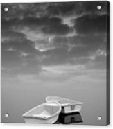 Two Boats And Clouds Acrylic Print by Dave Gordon