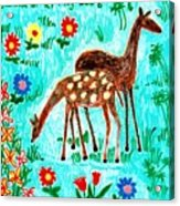 Two Deer Acrylic Print by Sushila Burgess