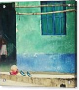 Two Shoes And A Melon Acrylic Print by Elizabeth Carr