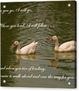 Two Swans - Marriage Vows Acrylic Print by Yali Shi