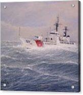 U. S. Coast Guard Cutter Gallitin Acrylic Print by William H RaVell III
