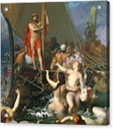 Ulysses And The Sirens Acrylic Print by Leon Auguste Adolphe Belly