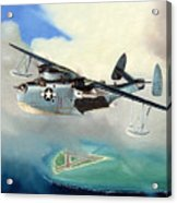 Uncle Bubba's Flying Boat Acrylic Print by Marc Stewart