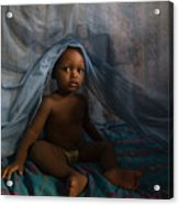 Under The Mosquito Net Acrylic Print by Irene Abdou