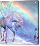 Unicorn Of The Rainbow Acrylic Print by Carol Cavalaris