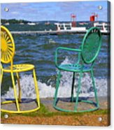 Union Chairs Acrylic Print by Melanie Guest