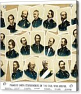 Union Commanders Of The Civil War Acrylic Print by War Is Hell Store