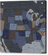 United States Of Denim Acrylic Print by Michael Tompsett