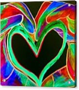 Universal Sign For Love Acrylic Print by Eloise Schneider