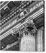 University Of Pennsylvania Column Detail Acrylic Print by University Icons