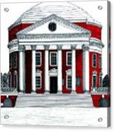 University Of Virginia Acrylic Print by Frederic Kohli