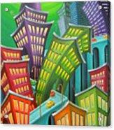 Urban Vertigo Acrylic Print by Eva Folks