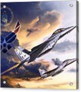 Us Air Force Acrylic Print by Kurt Miller