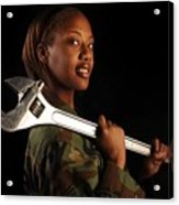 Us Air Force Senior Airman A Female Acrylic Print by Everett