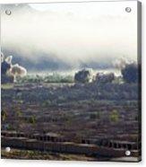 U.s. Bombs Burst During Fighting Acrylic Print by Everett