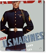Us Marines - Ready Acrylic Print by War Is Hell Store