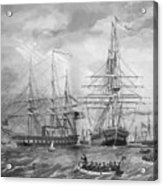 U.s. Naval Fleet During The Civil War Acrylic Print by War Is Hell Store