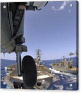 U.s. Navy Petty Officer Leans Acrylic Print by Stocktrek Images