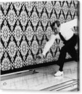 U.s. President Richard Nixon, Bowling Acrylic Print by Everett