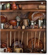 Utensils - What I Found In A Cabinet Acrylic Print by Mike Savad
