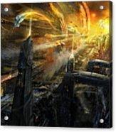 Utherworlds Battlestar Acrylic Print by Philip Straub