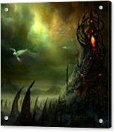 Utherworlds Where Fears Roam Acrylic Print by Philip Straub