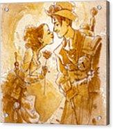Valentine Acrylic Print by Brian Kesinger