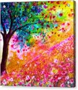 Valentine Tree Acrylic Print by Ann Marie Bone