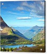 Valley Beyond Acrylic Print by Rebecca L. Latson