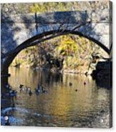 Valley Green Bridge Acrylic Print by Bill Cannon