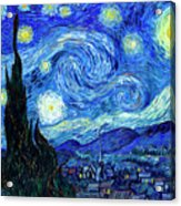 Van Gogh Starry Night Acrylic Print by Vincent Van Gogh