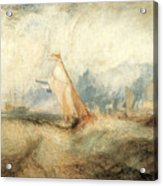 Van Tromp Going About To Please His Masters Acrylic Print by J M W Turner