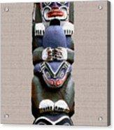 Vancouver Totem - 2 Acrylic Print by Linda  Parker